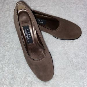 Stuart Weitzman Suede Slip-on Loafers